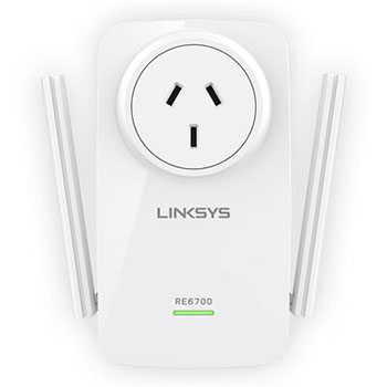 Linksys RE6700-AU Dual Band Wireless AC1200 Range Extender with Spot finder
