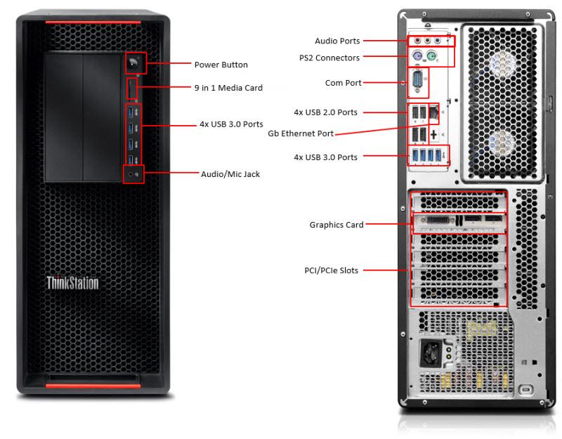 P5002 external2 lenovo thinkstation p510 [30b50001au] desktop computers and