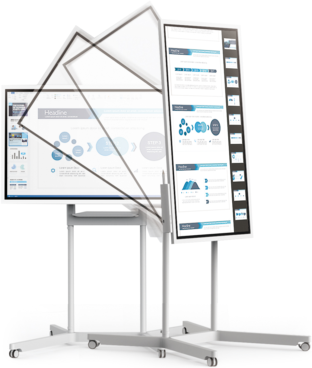 Samsung Flip [LH55WMHPTWC/XY-STN-WM55H/XY] 55 inch 4K Edge LED Display and Flip Mobile Stand Combo