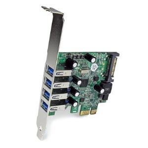 Startech [PEXUSB3S4V] 4 Port PCI Express PCIe SuperSpeed USB 3.0 Controller Card Adapter with UASP - SATA Power - USB 3 PCIe Card - USB 3.0 PCI-e Card